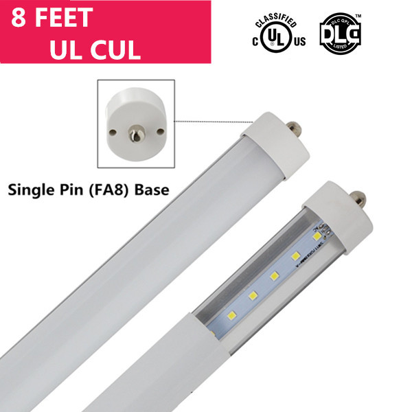 UL 8FT Line Voltage AC Fa8 Single-Pin Non-Screen Flickering Non-Dimmable Ballast By-Pass T8 LED Tube Light in Aluminum+PC Housing