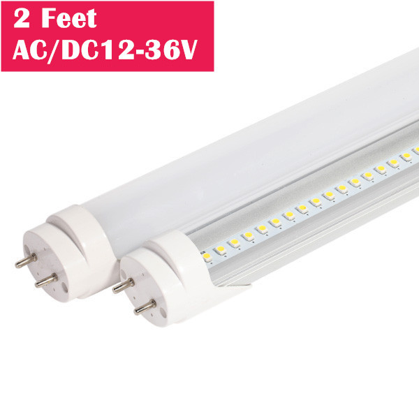 2 Feet Low Voltage AC/DC 12V-36V Bi-Pin G13 Base T8 LED Tube Light