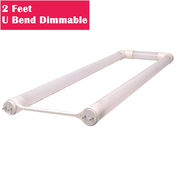 Dimmable 24'' Long 6 Inch Leg Spacing U Bend Line Voltage AC Bi-Pin G13 Base T8 LED Tube Light