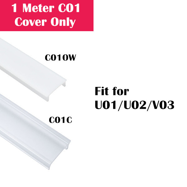 1Meter (3.3ft) Cover Only for LED Aluminum Channel U01/U02/V03