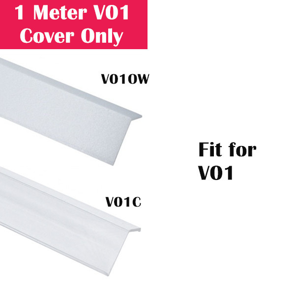 1Meter (3.3ft) Cover Only for LED Aluminum Channel V01