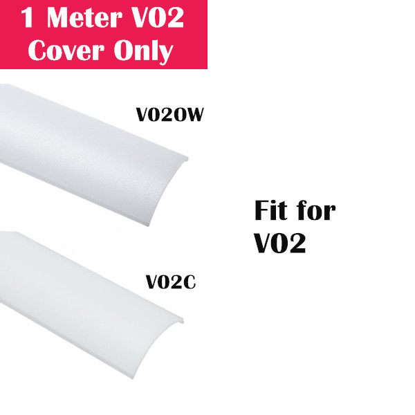 1Meter (3.3ft) Cover Only for LED Aluminum Channel V02