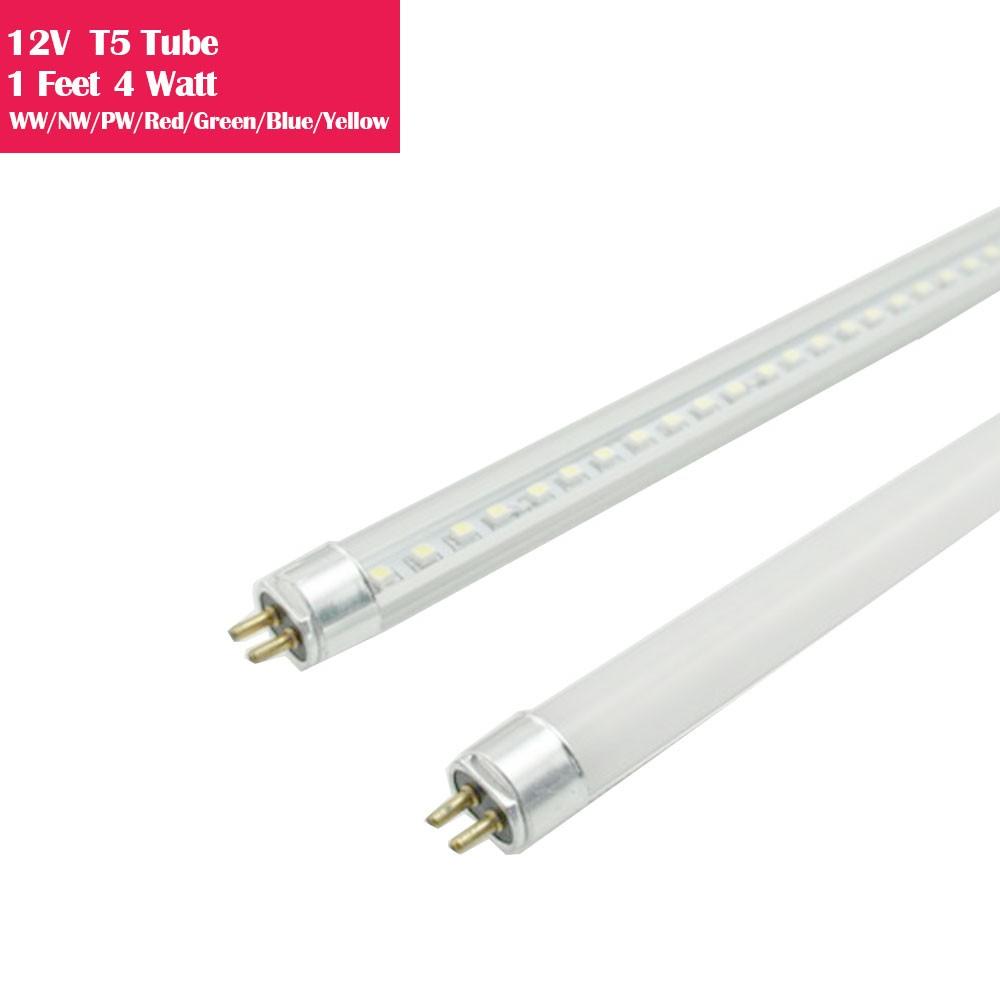1 Feet Low Voltage AC/DC 12V Bi-Pin G5 Base T5 LED Tube Light