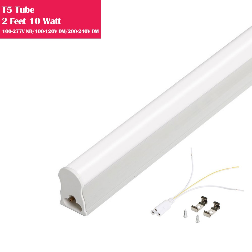 2 Feet Line Voltage AC T5 LED Tube Light Integrated with Aluminum Fixture