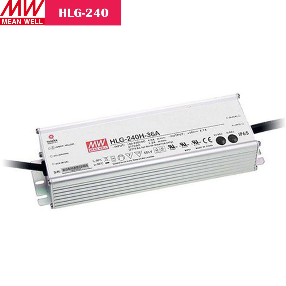 240W MEANWELL UL Certificated HLG series IP65 / IP67 Waterproof Power Supply