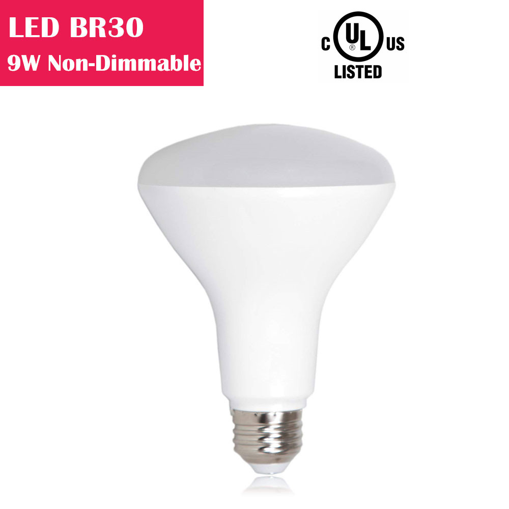 LED BR30 9W 650LM 65W Equivalent CRI 80 Non-dimmable