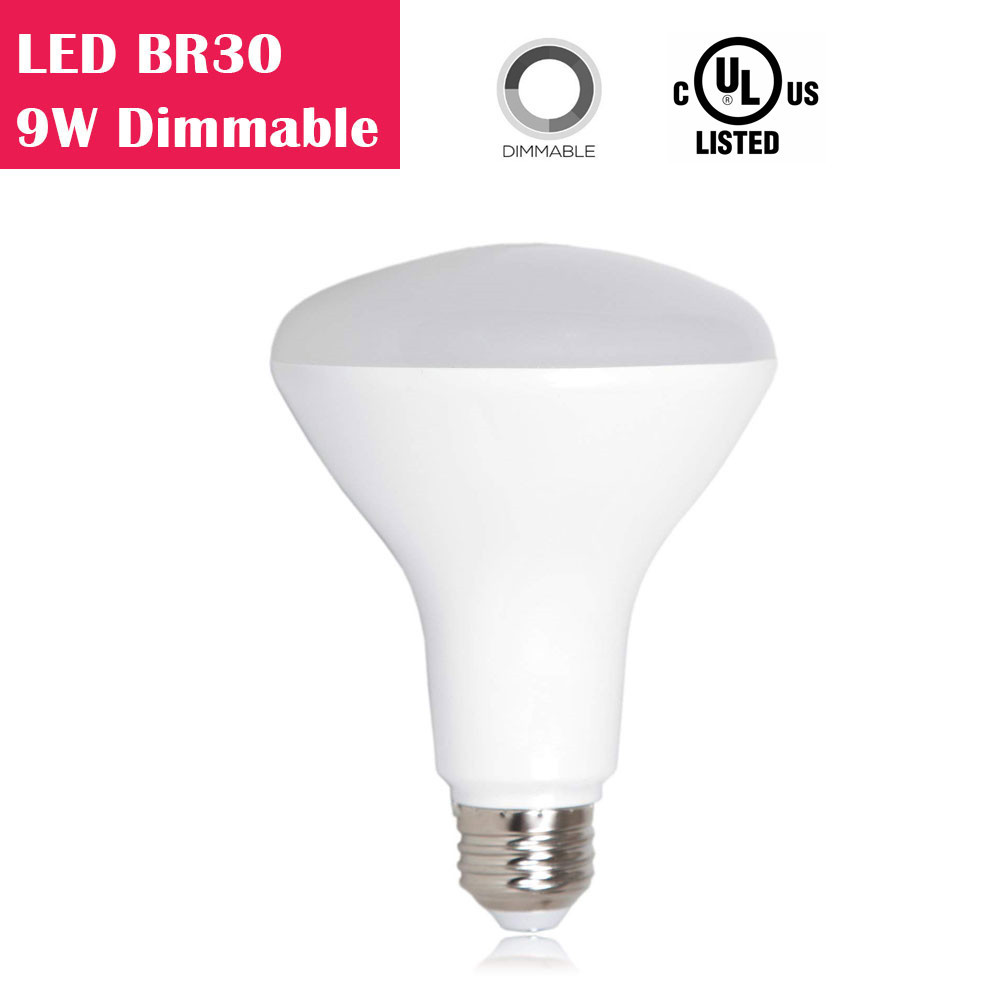LED BR30 9W 650LM 65W Equivalent CRI 80 Dimmable