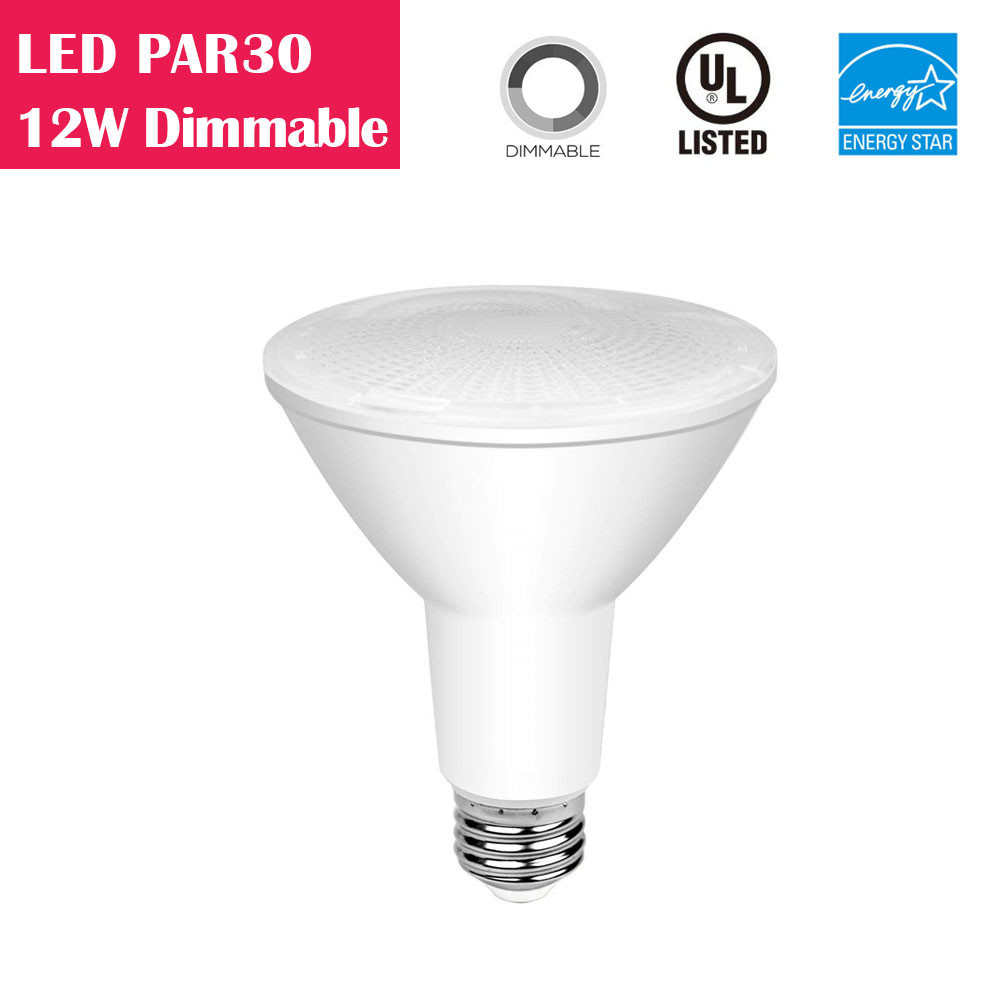 LED PAR30 Long-neck 12W 75W-equivalent CRI80 840LM 40° Dimmable