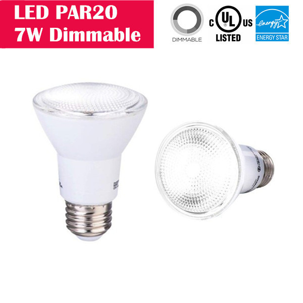 LED PAR20 7W 50W-equivalent CRI80 500LM 40° Beam Dimmable
