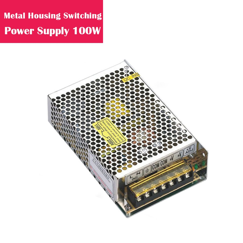 12V 8.3Amp 100W Metal Housing Switching Indoor LED Power Supply in Aluminum Shell