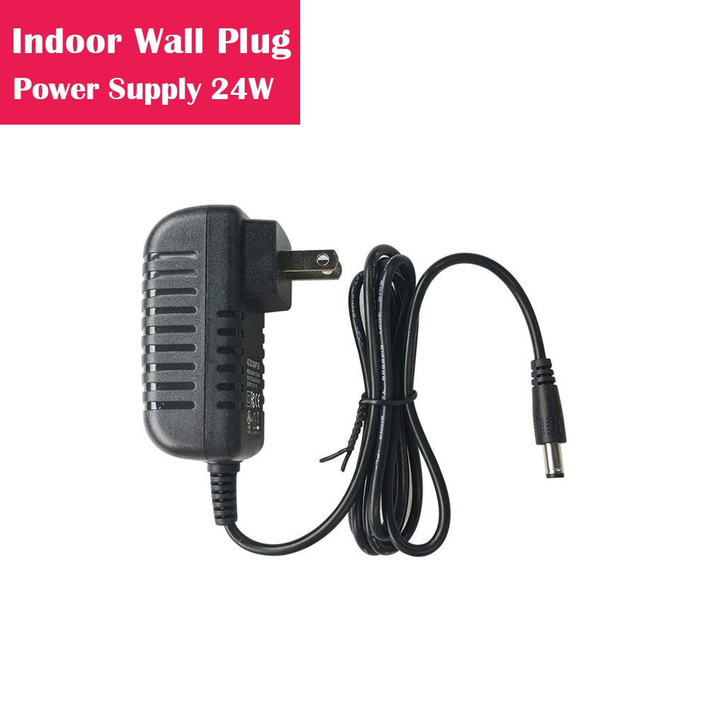 12V 2Amp 24W Indoor AC-DC Wall Plug in Switching LED Power Supply with DC 5.5/2.1 Male Barrel Connector