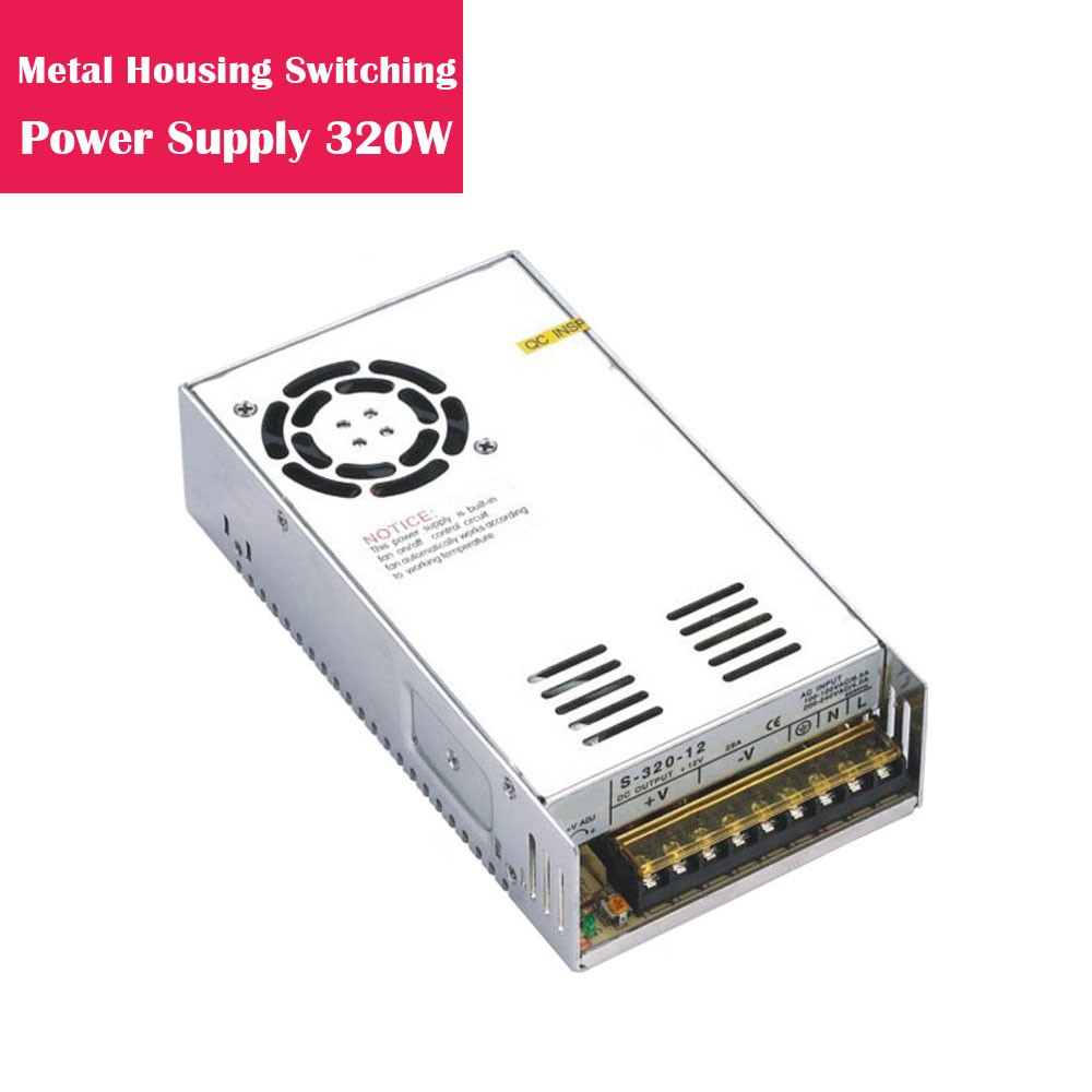 12V 26.66Amp 320W Metal Housing Switching Indoor LED Power Supply in Aluminum Shell