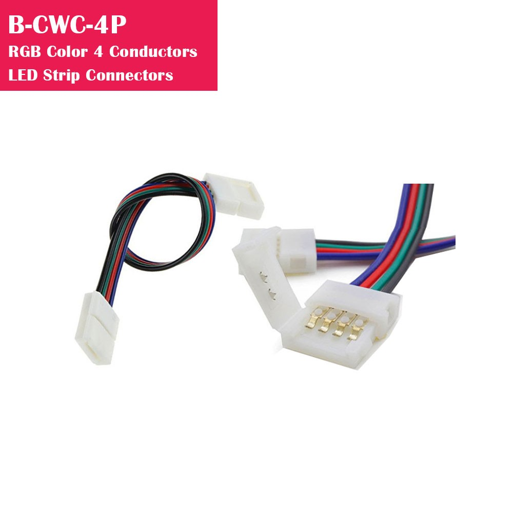 RGB Color Gapless Strip to Strip 4 Conductor LED Strip Connector
