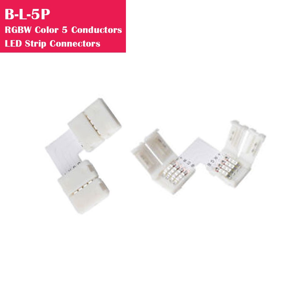 RGBW Color Gapless Strip to Strip 5 Conductor LED Strip Connector
