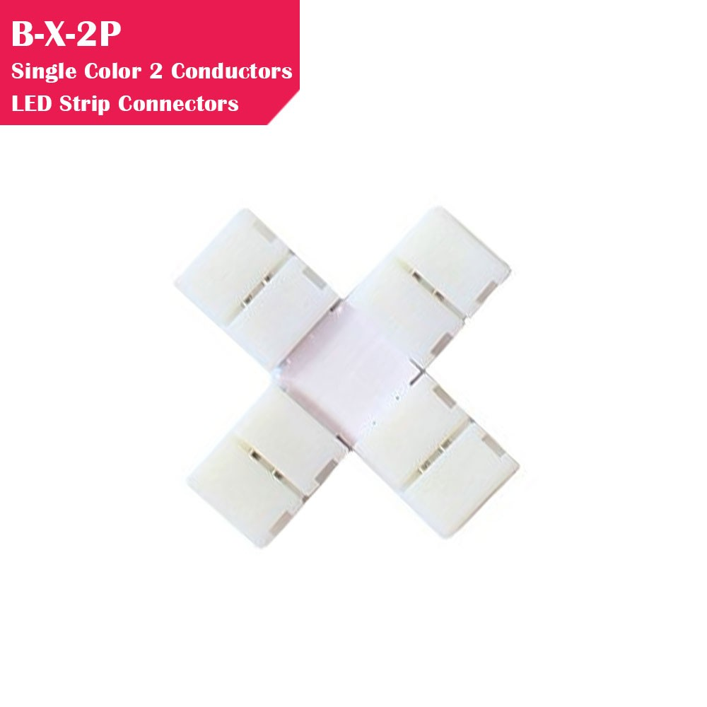 Single Color Gapless Strip to Strip 2 Conductor LED Strip Connector