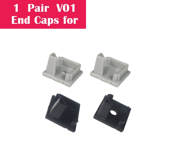 One Pair End Caps For V01 (1x With Hole End Cap + 1x With Out Hole End Cap)