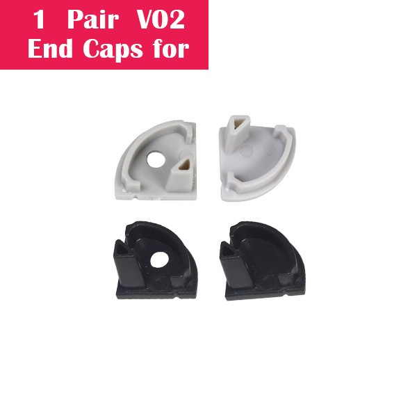 One Pair End Caps For V02 (1x With Hole End Cap + 1x With Out Hole End Cap)