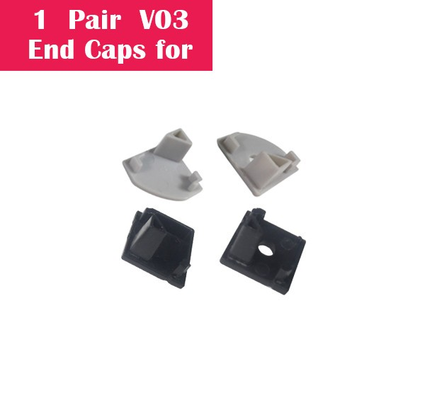 One Pair End Caps For V03 (1x With Hole End Cap + 1x With Out Hole End Cap)