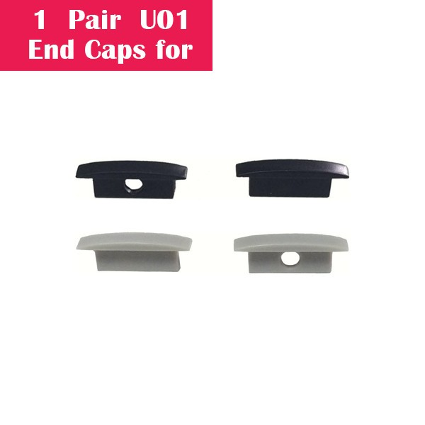 One Pair End Caps For U01 (1x With Hole End Cap + 1x With Out Hole End Cap)