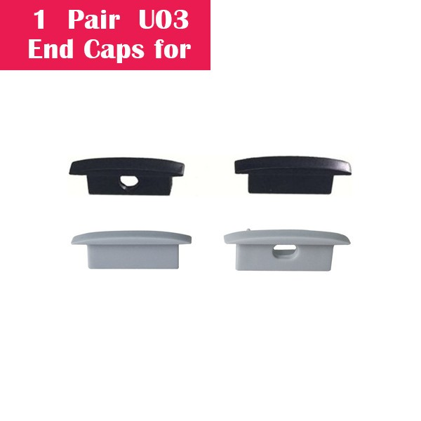 One Pair End Caps For U03 (1x With Hole End Cap + 1x With Out Hole End Cap)