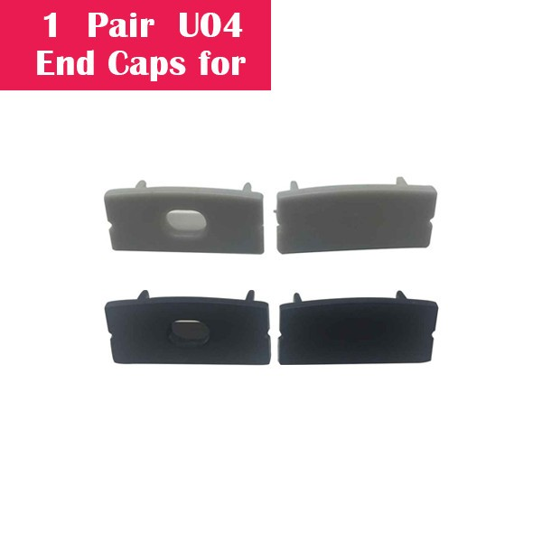 One Pair End Caps For U04 (1x With Hole End Cap + 1x With Out Hole End Cap)