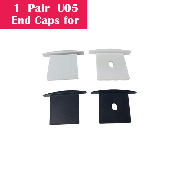 One Pair End Cap For U05 (1x With Hole End Cap + 1x With Out Hole End Cap)