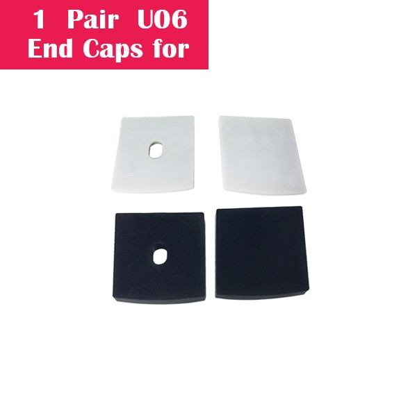 One Pair End Caps For U06 (1x With Hole End Cap + 1x With Out Hole End Cap)