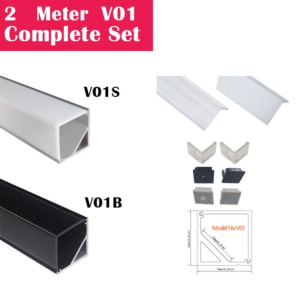 2Meter (6.6ft) V01 Complete Set Aluminum Channel