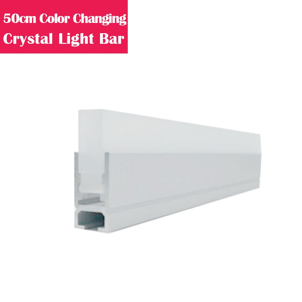 50cm Color Changing LED Linear Suspended Dinning Light-Crystal Acrylic Lens Aluminum LED Light Strip
