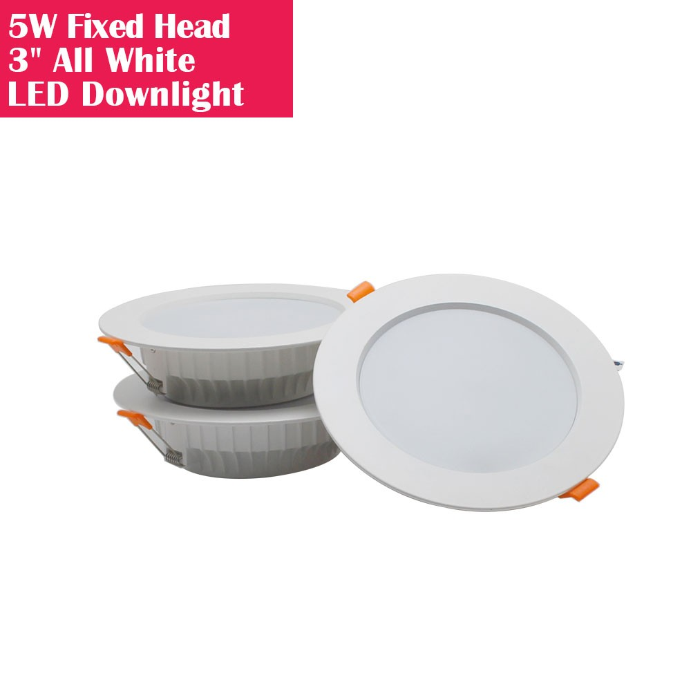 3Inch Fixed Head All White Recessed LED Downlights