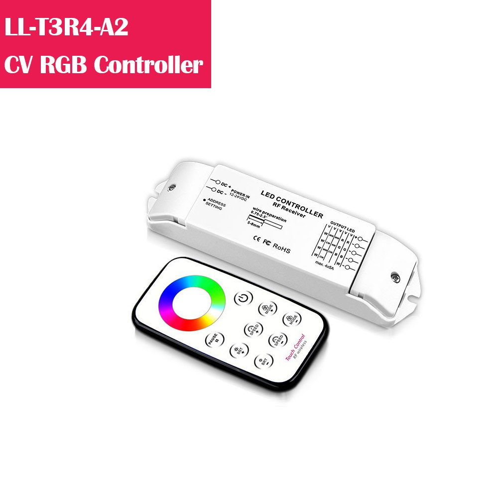 T3R4 RGB Color Changing 12-24V Low Voltage LED Controller