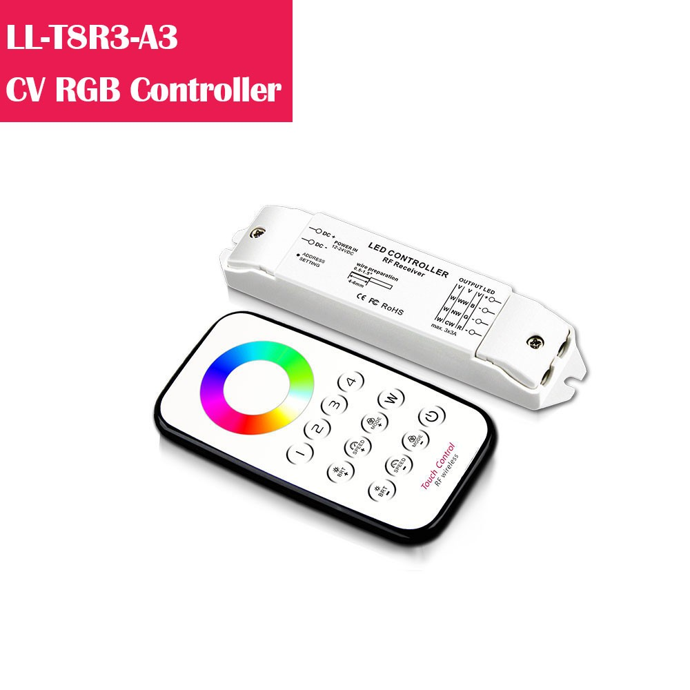 T8R3  RGB Color Changing 12-24V Low Voltage LED Controller