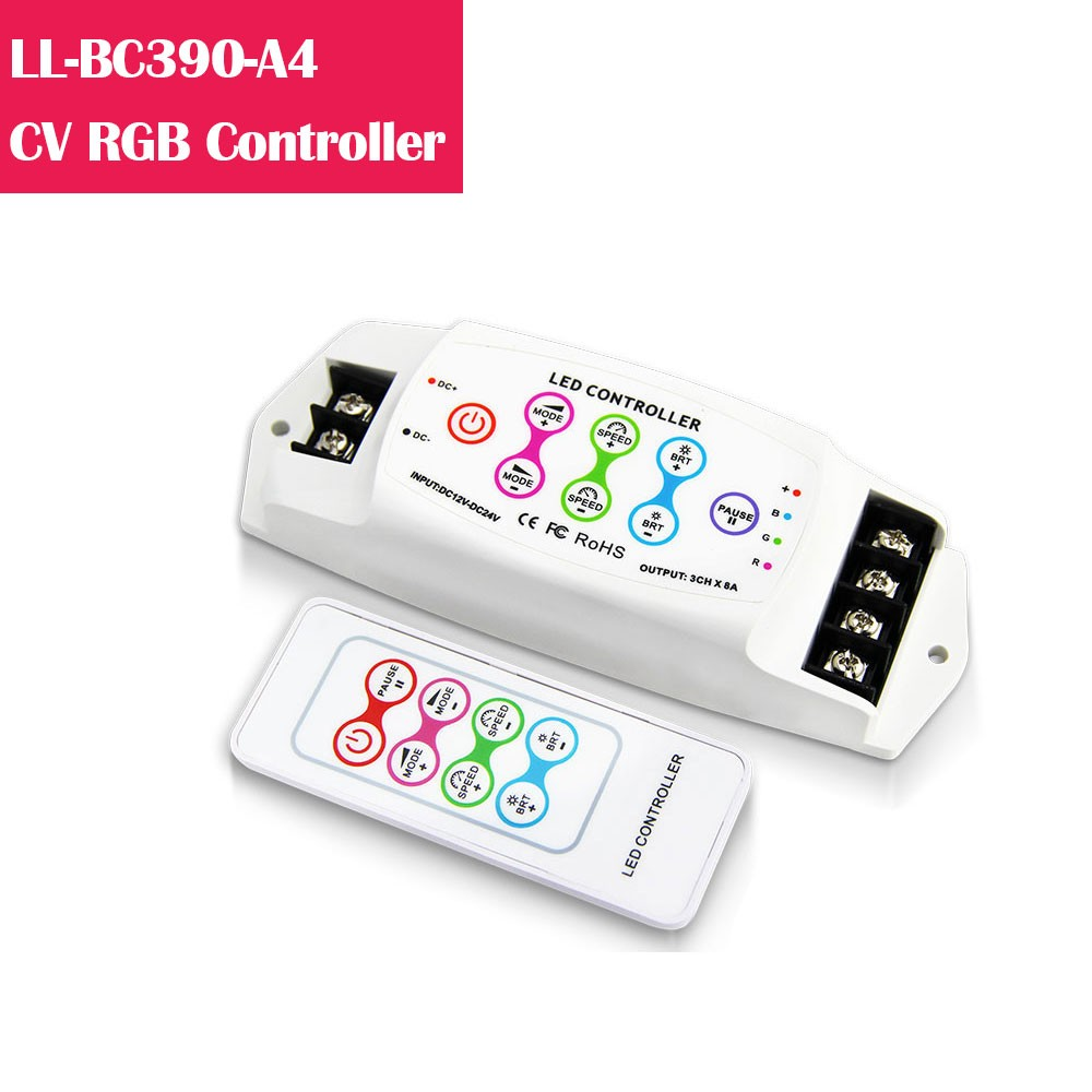 BC390  RGB Color Changing 12-24V Low Voltage LED Controller