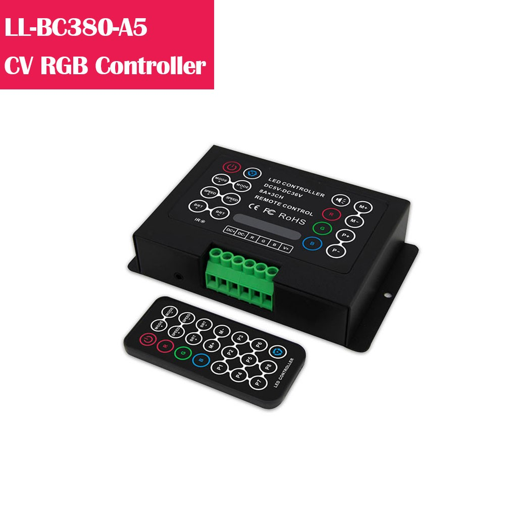 BC380  RGB Color Changing 5-36V Low Voltage LED Controller