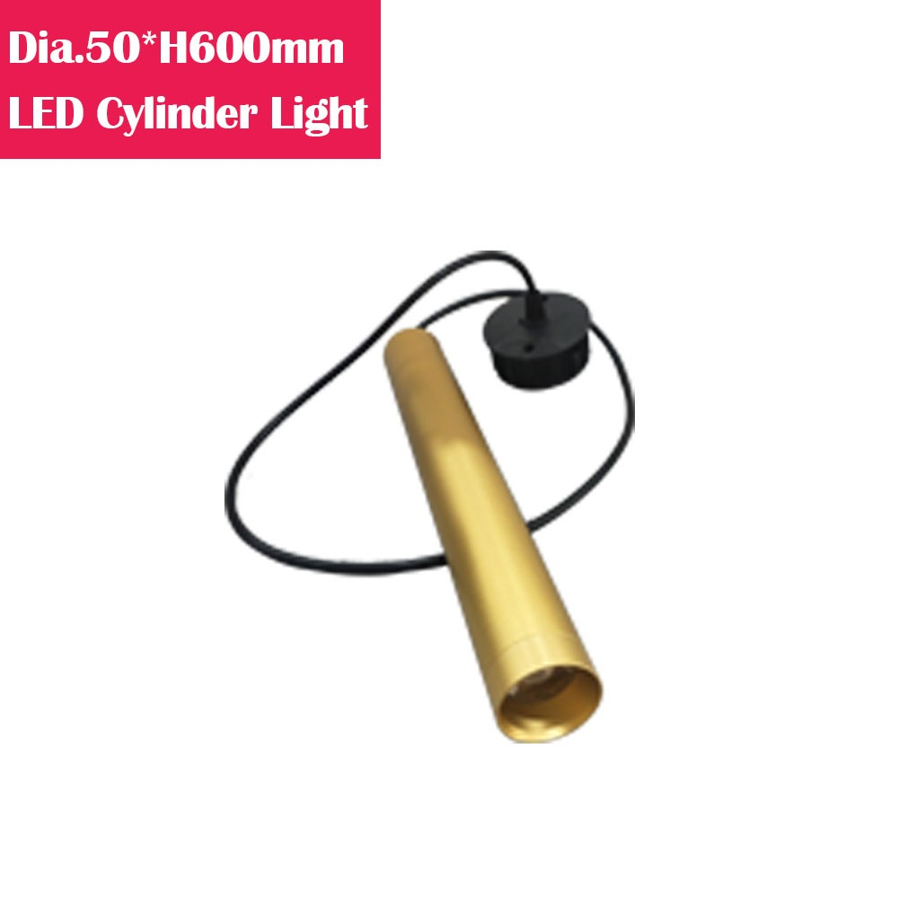 60cm LED Cylinder Suspended Dinning Light in White/Black/Golden/Silver Shade