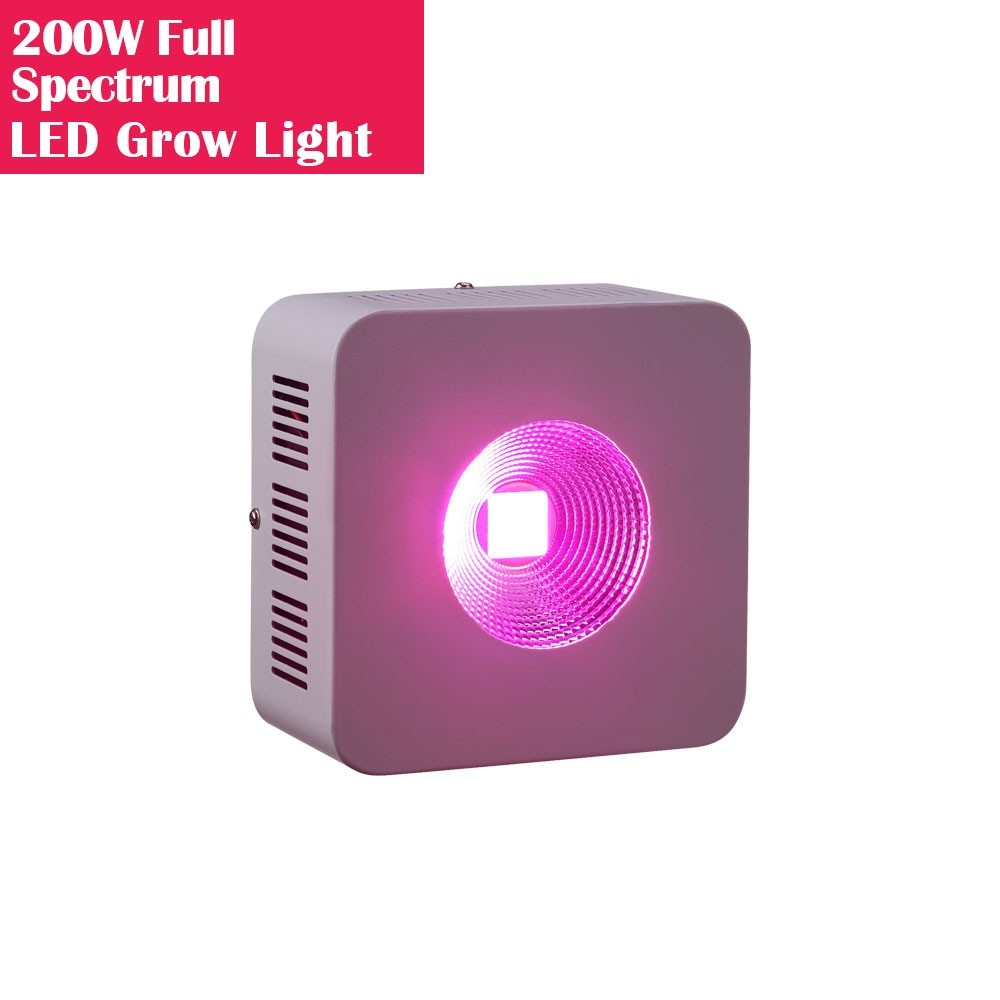 200W High Power Full Spectrum LED Grow Lights with COB Reflector for Hydroponic and Medical Plant Cultivation