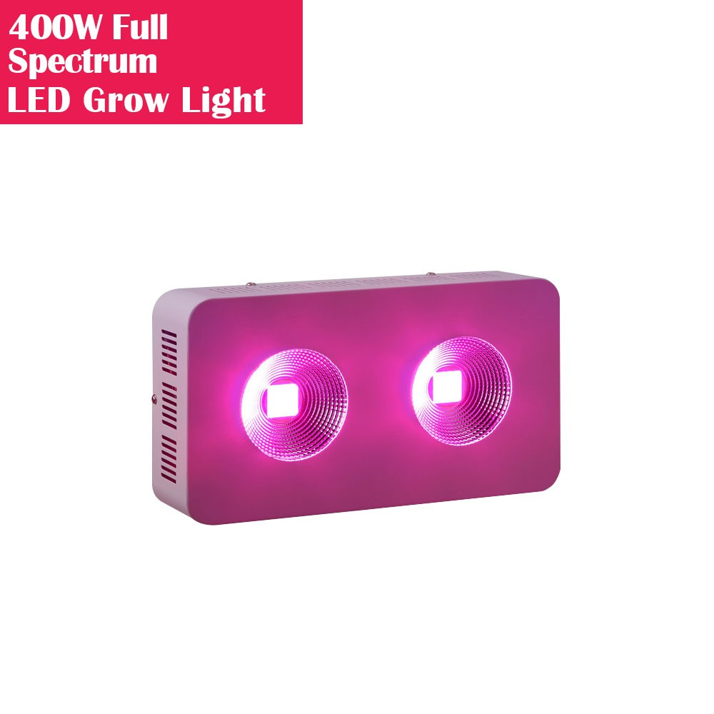 400W High Power Full Spectrum LED Grow Lights with COB Reflector for Hydroponic and Medical Plant Cultivation