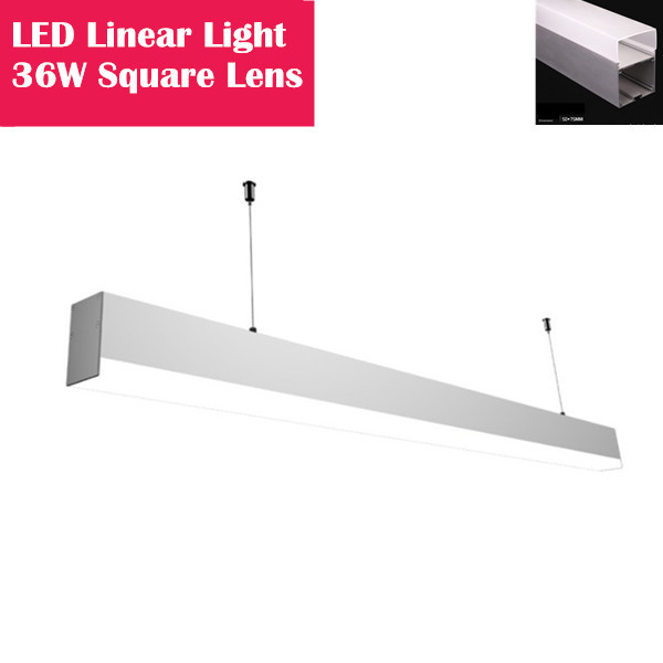 80W LED Linear Light Fixture with Milky White Square Diffuser|LED