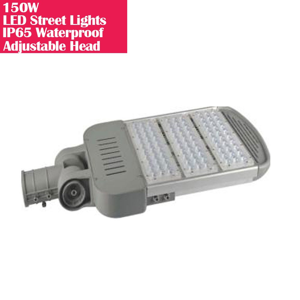 150W IP65 Waterproof Adjustable Head LED Street Lights Modular LED Pole Light Outdoor 120LM/W CRI80+