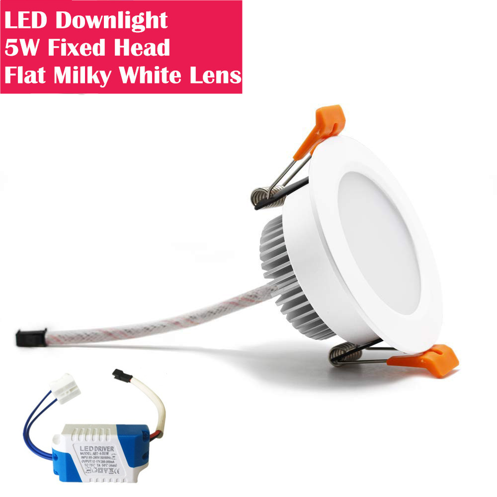 3Inch 5W Fixed Head Flat Lens Recessed LED Downlights - DXL Serie