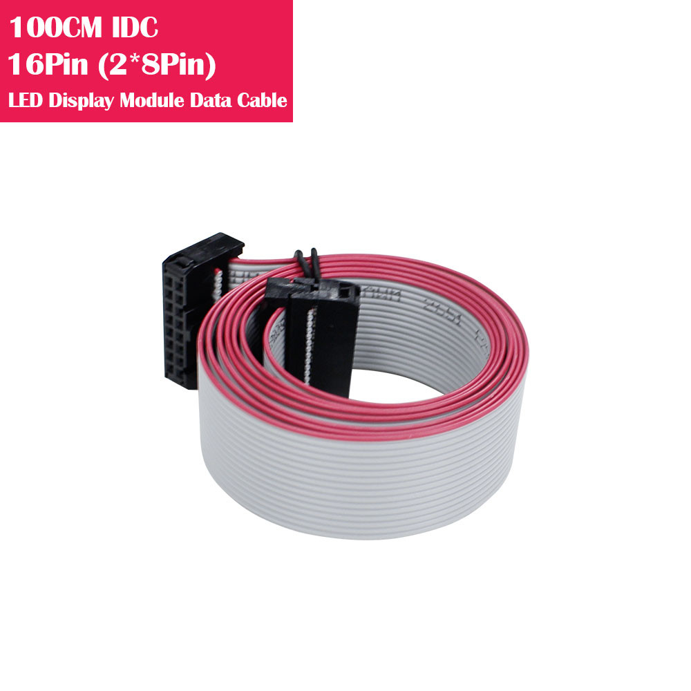 100CM IDC 16Pin(2*8Pin) Data Cable For LED Display Modules