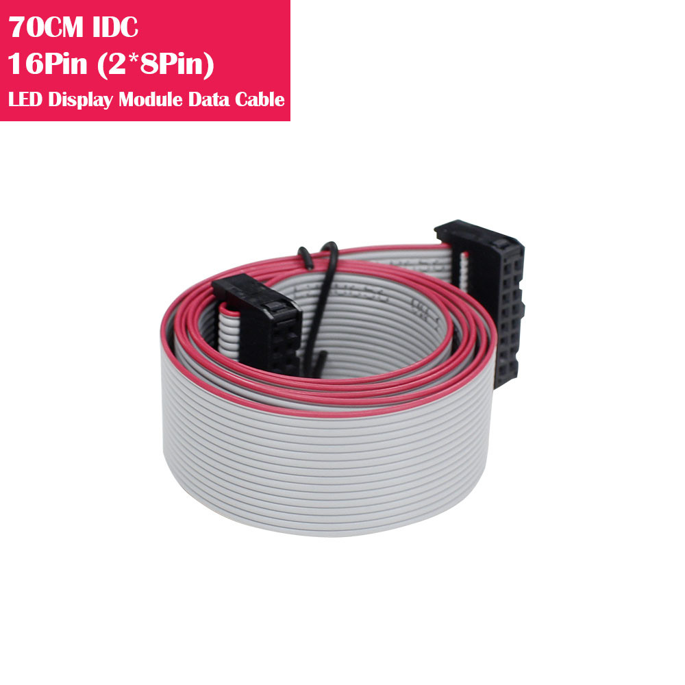 70CM IDC 16Pin(2*8Pin) Data Cable For LED Display Modules