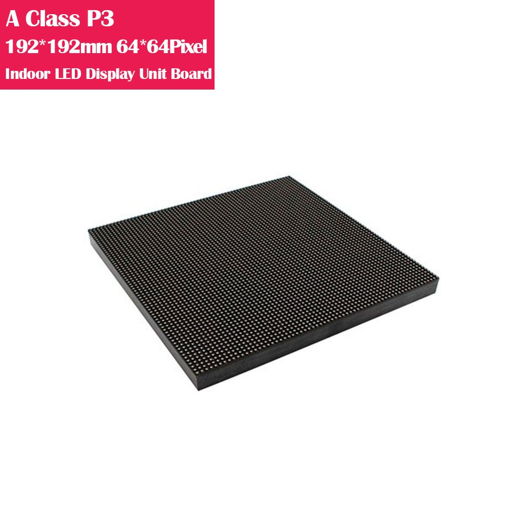 A-Class P3 192*192mm High Refresh Version IC Indoor LED Display Unit Board