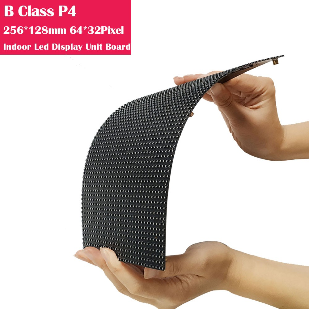 B-Class Flexible P4 256*128mm  Indoor LED Display Unit Board