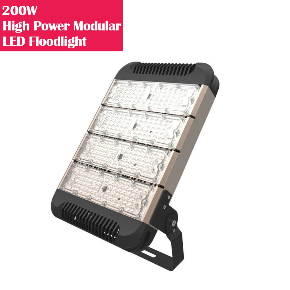 200W IP65 Waterproof High Power Modular LED Floodlight