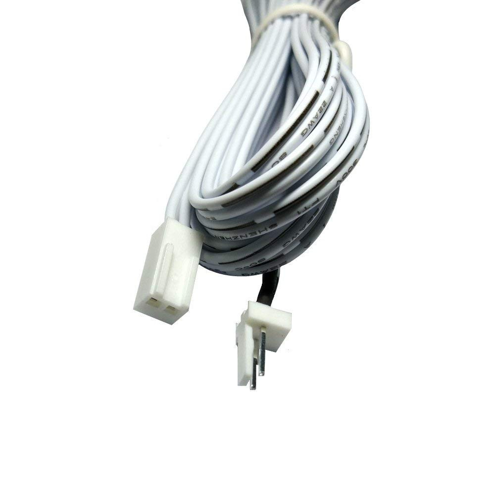 6.56ft (200cm) 2-Pin Male And Female Cable Plug Connector Extension Wire, 2510 Port Extension Cable, 2.54mm Pitch, LED Cabinet Light Extension Cord