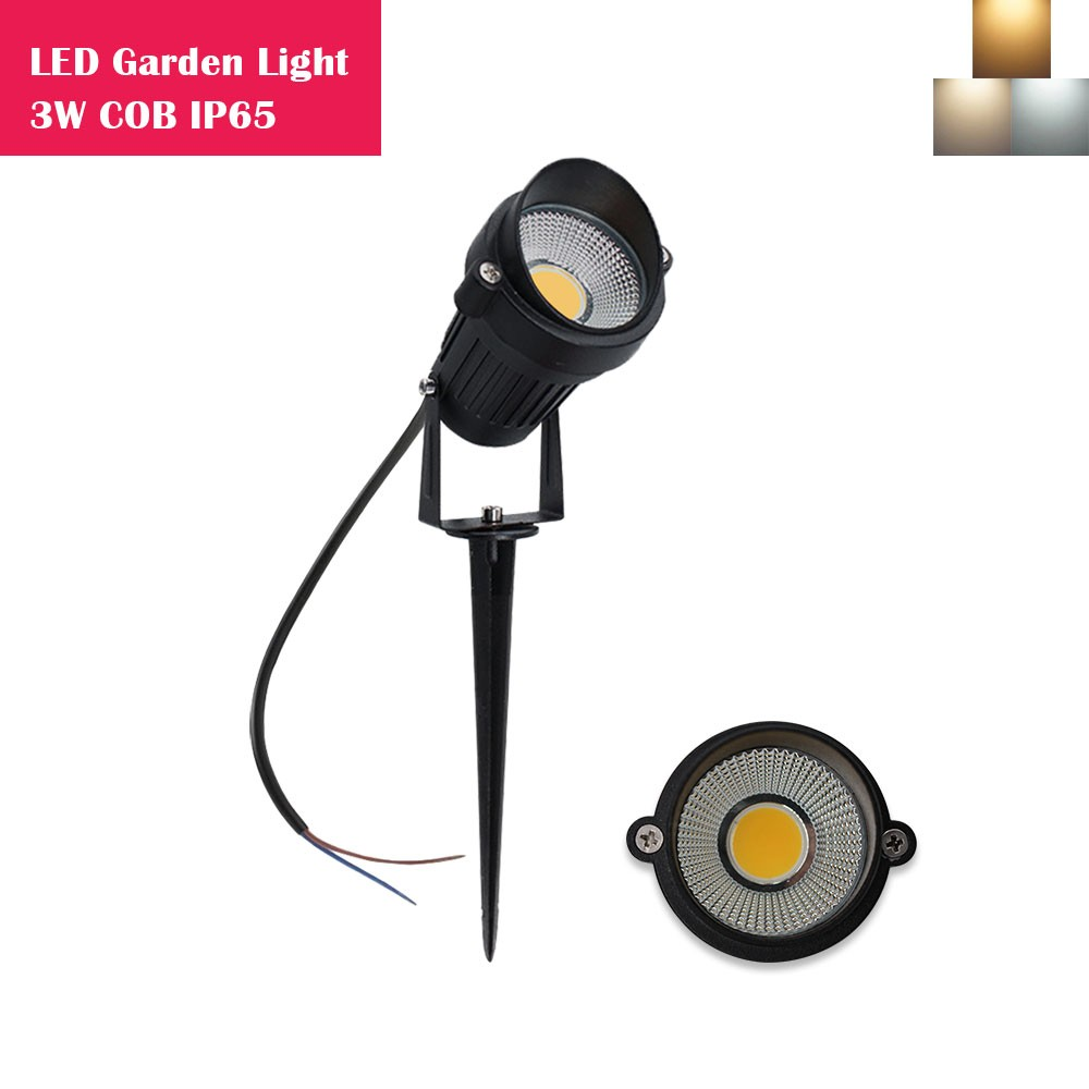 3W LED Landscape Lights 12V-24V Waterproof Garden Pathway Lights Walls Trees Flags Outdoor Spotlights with Spike Stand