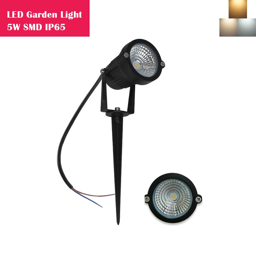 5W SMD3030 LED Landscape Lights 12V-24V Waterproof Garden Pathway Lights Walls Trees Flags Outdoor Spotlights with Spike Stand