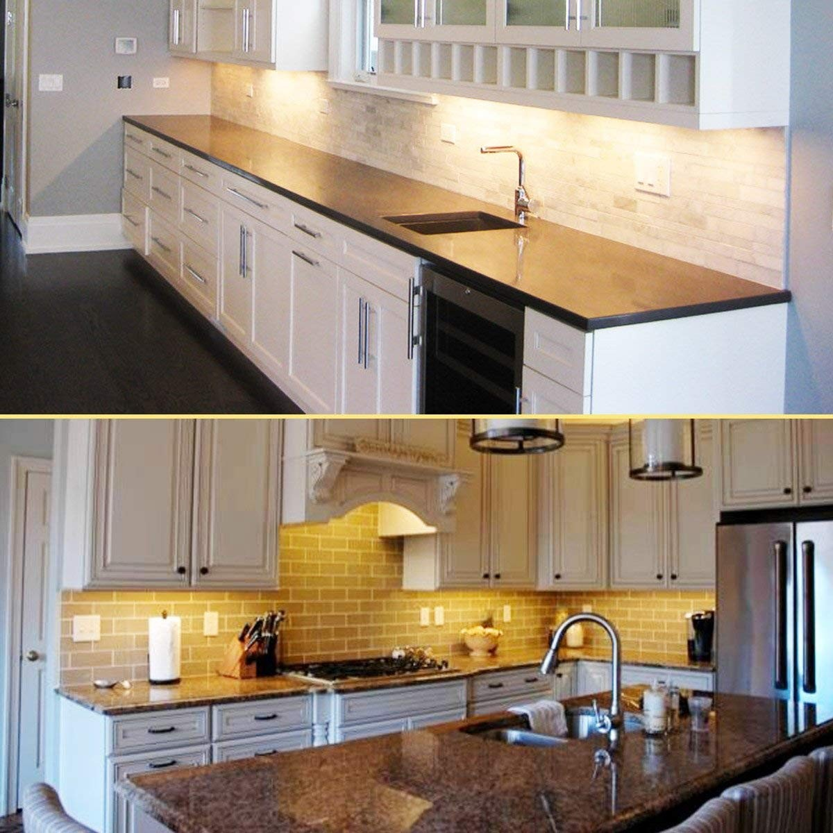 Kitchen Lighting Under Cabinet Led: Ultra Thin LED Under Cabinet/Counter Kitchen Lighting Kit