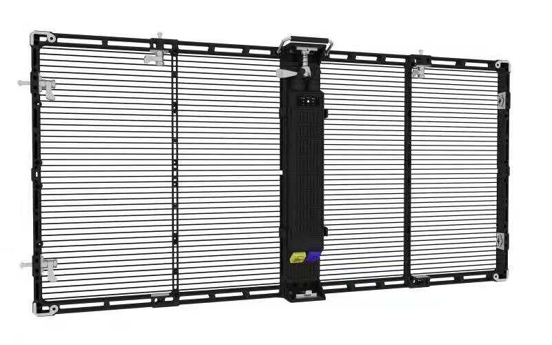 P25* 41.66 HK oClear-P25 Series Outdoor Transparent Mesh LED Display 1500*500mm 6000cd/㎡ Brightness 1920Hz High refresh
